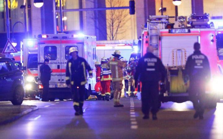 The scene in Berlin