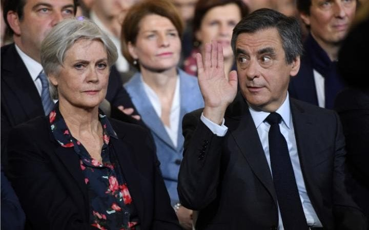 Image result for fillon and wife, photos