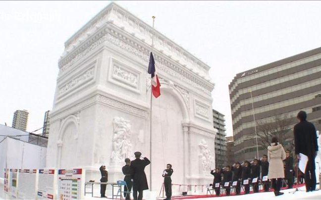 Paris' famous monument, the Arc de Triomphe, is showcased at the festival
