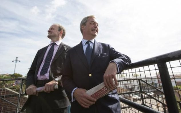 Douglas Carswell's pictured with Nigel Farage