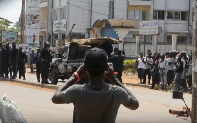 Protests in Cameroon in December 2016
