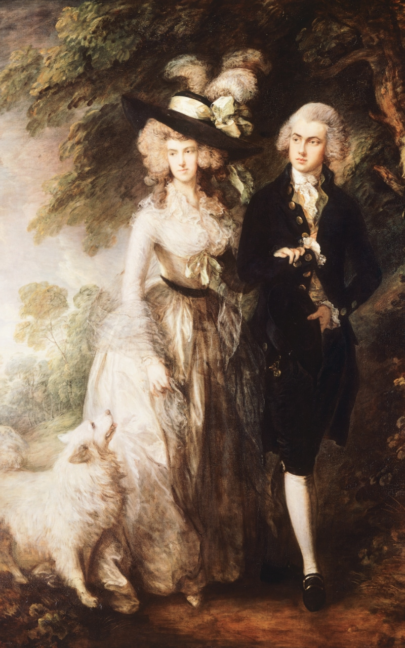 Mr and Mrs Hallett or The morning walk, by Thomas Gainsborough