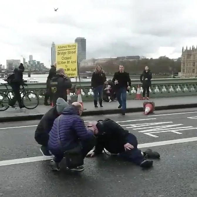 Injured treated on Westminster Bridge