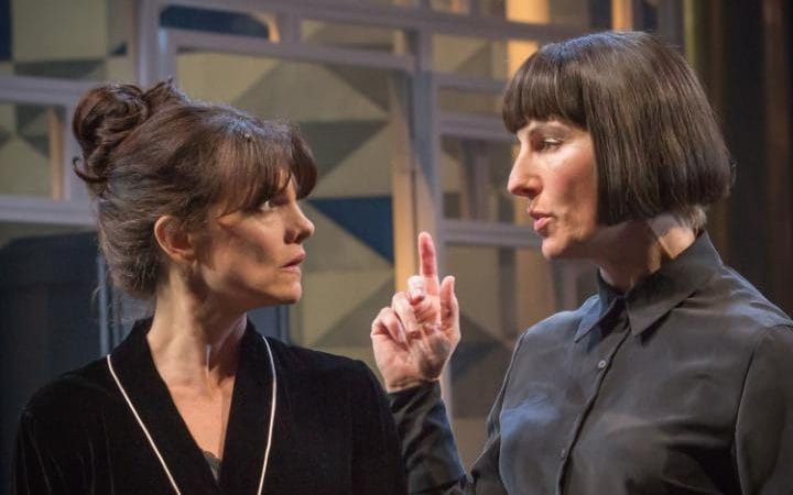 Tamsin Greig appears in the National Theatre's production of Twelfth Night