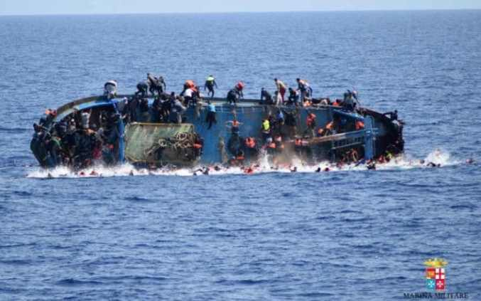 At least seven migrants have drowned after a heavily overcrowded boat they were sailing on overturned in May 2016