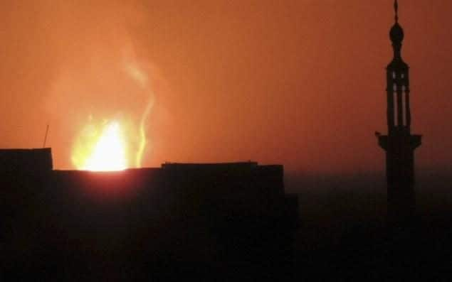 Aftermath of explosion near Damascus International Airport