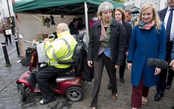 Theresa May and Nicola Blackwood