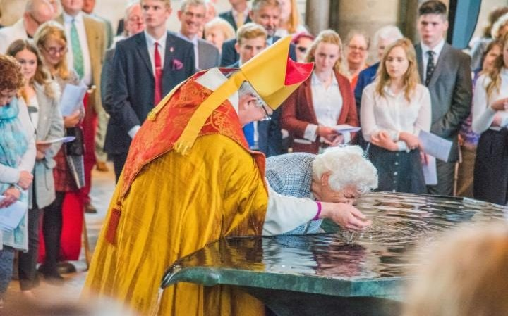 Some older people who have been going to church for years have come to be confirmed