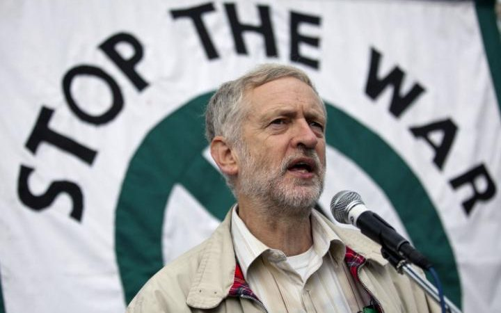 Jeremy Corbyn Anti-War Protest on the eleventh anniversary of the start of the war in Afghanistan, London