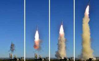 North Korea tests its new anti-aircraft guided weapon system