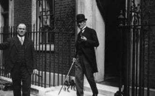 First Labour prime minister Ramsay MacDonald, pictured leaving 10 Downing Street, took office in 1924 even though he had fewer seats than the Conservatives.