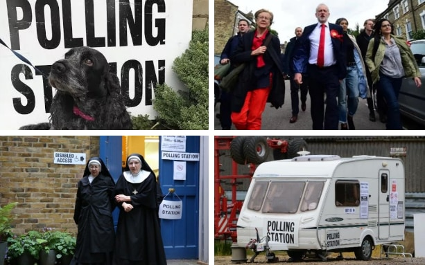Britain is going to the polls today to pick a new government. Here's all the best pictures from polling stations around the country.