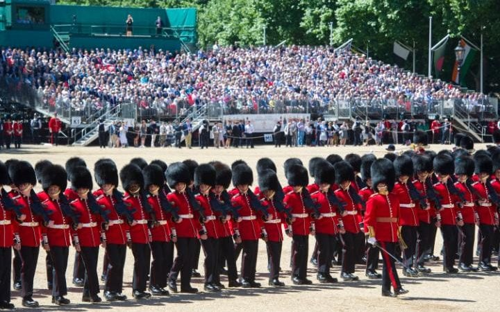 The final rehearsal of the Trooping the Colour,