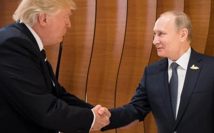 Donald Trump meets Vladimir Putin