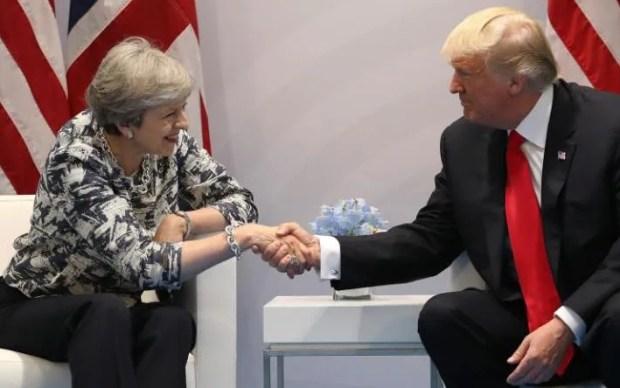 Theresa May and Trump