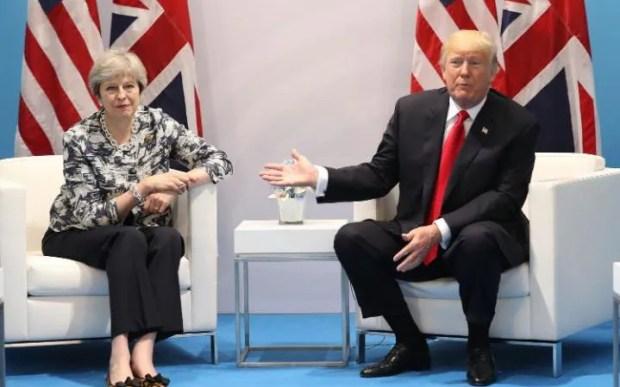 Theresa May meets US President Donald Trump
