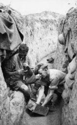 Soldiers during the First World War's battle of Passchendaele.