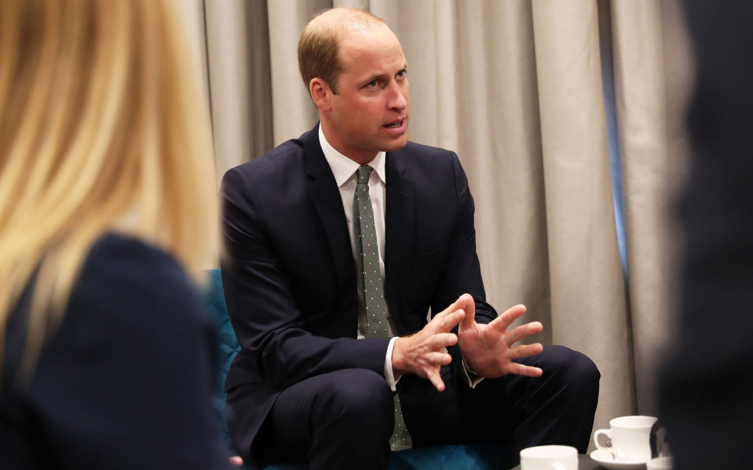 The Duke of Cambridge joins a breakout session with public and police professionals who have been affected by mental health challenges