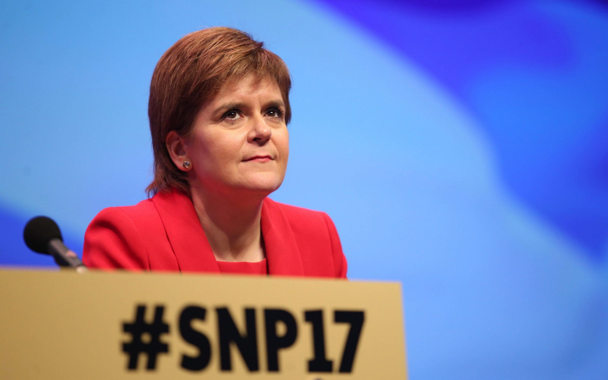Nicola Sturgeon at the SNP conference on Monday