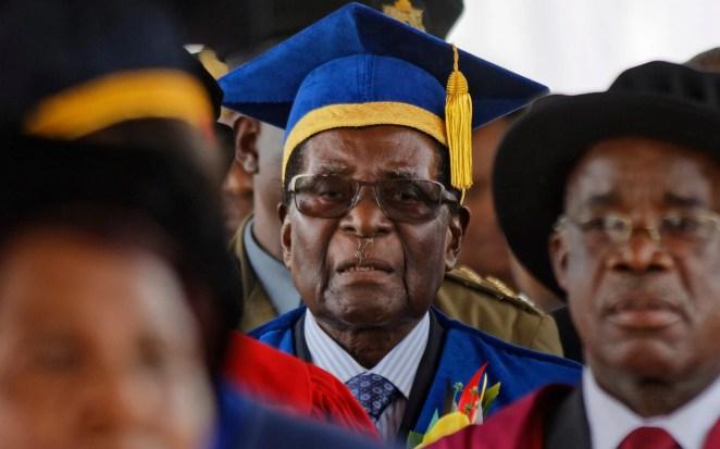Image result for robert mugabe at zimbabwe open university graduation