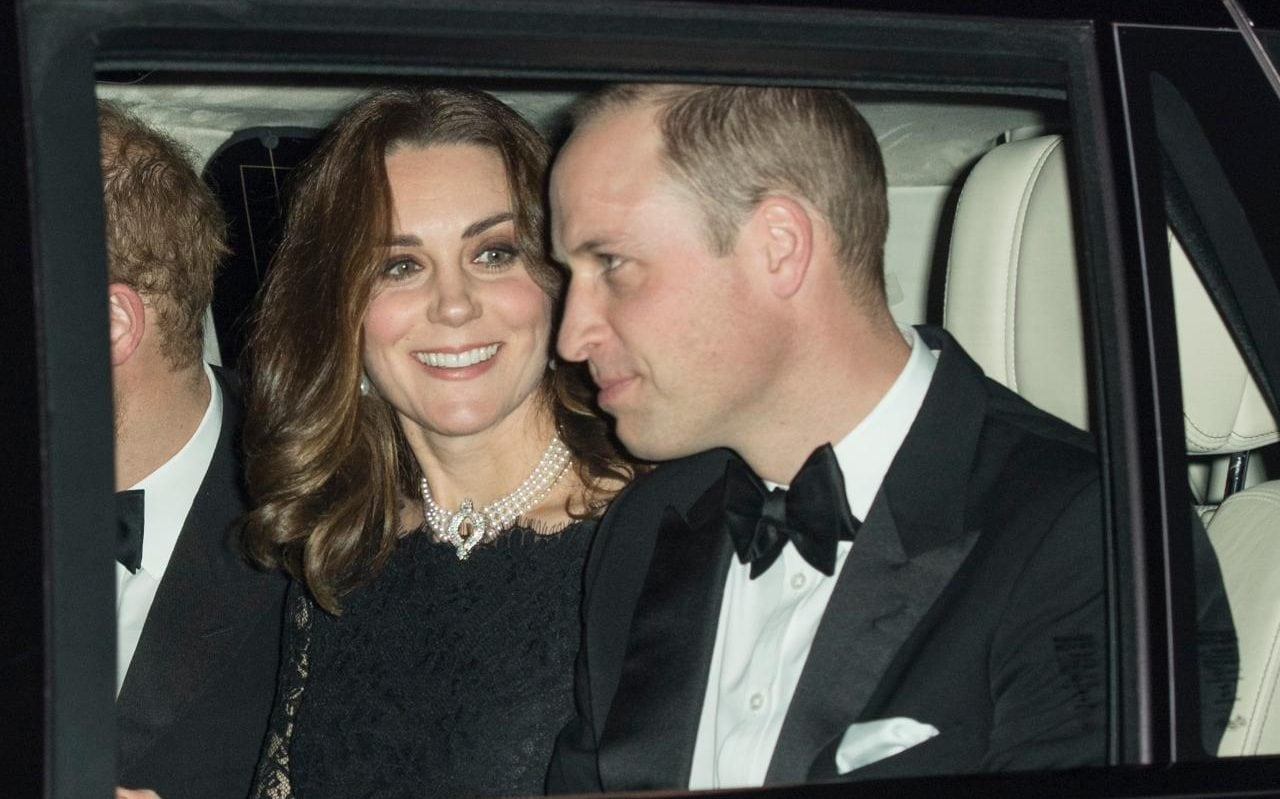 Duchess Of Cambridge Wears Queens Pearls As Royal Family