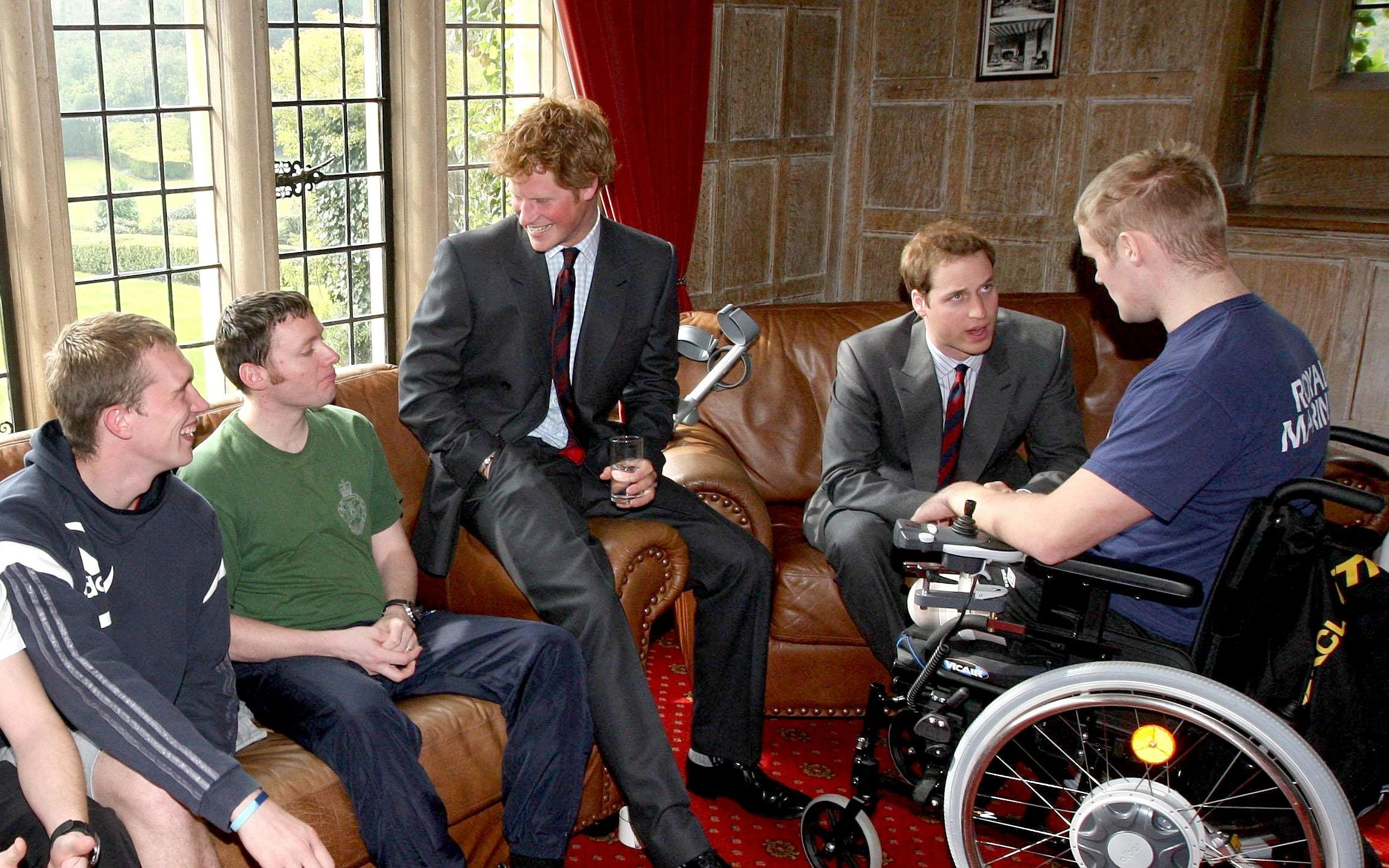 Prince Harry and Prince William visit Headley Court in 2008