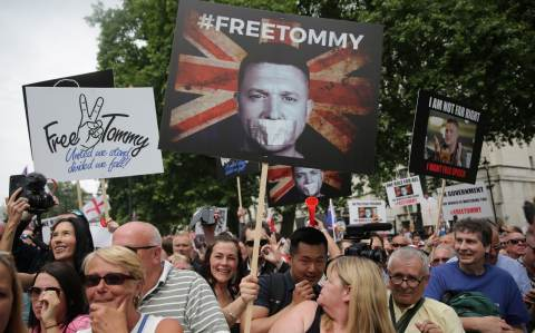 A Free Tommy Robinson march in June