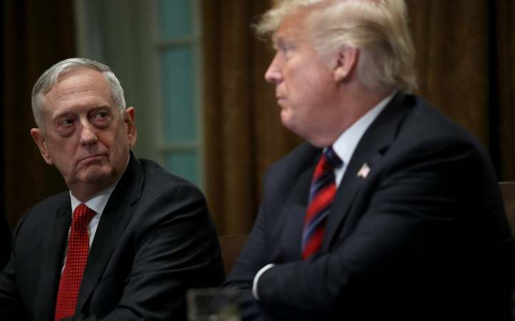 General Mattis had issued a harsh rebuke of Trump's decision to withdraw from Syria in his resignation letter, but was due to stay on until February 28