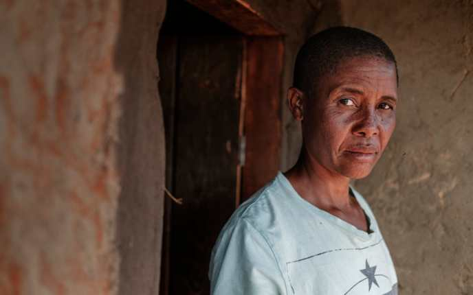 Misa Mawlidi saw her son Goodson kidnapped as she was forced to choose which of her children to save CREDIT: EDUARDO SOTERAS JALIL