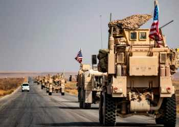 US troops leave northern Syria for Iraq despite Trump's claims they are returning 'dwelling'