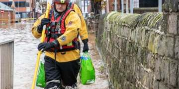 Homeless charities call for greater awareness of people sleeping in wheelie bins after two men almost killed in treacherous floodwater