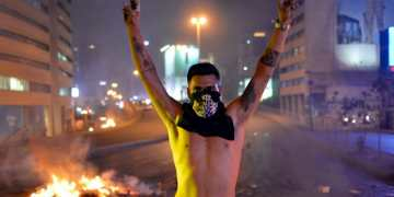 Hundreds wounded in Lebanon anti-government protests as police are accused of 'brutal use of pressure'