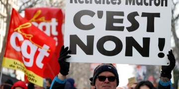 French unions promise months more strike action despite falling numbers as pension reform is finally unveiled