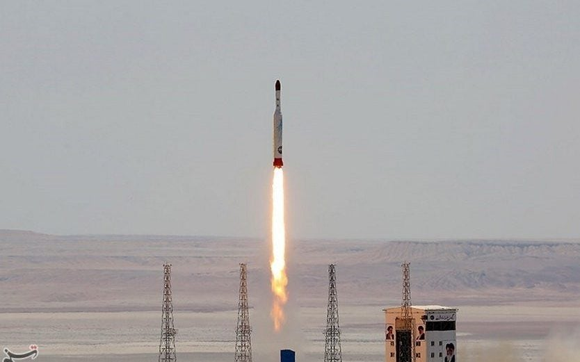 Iran 'launches military satellite into orbit' amid tensions with US