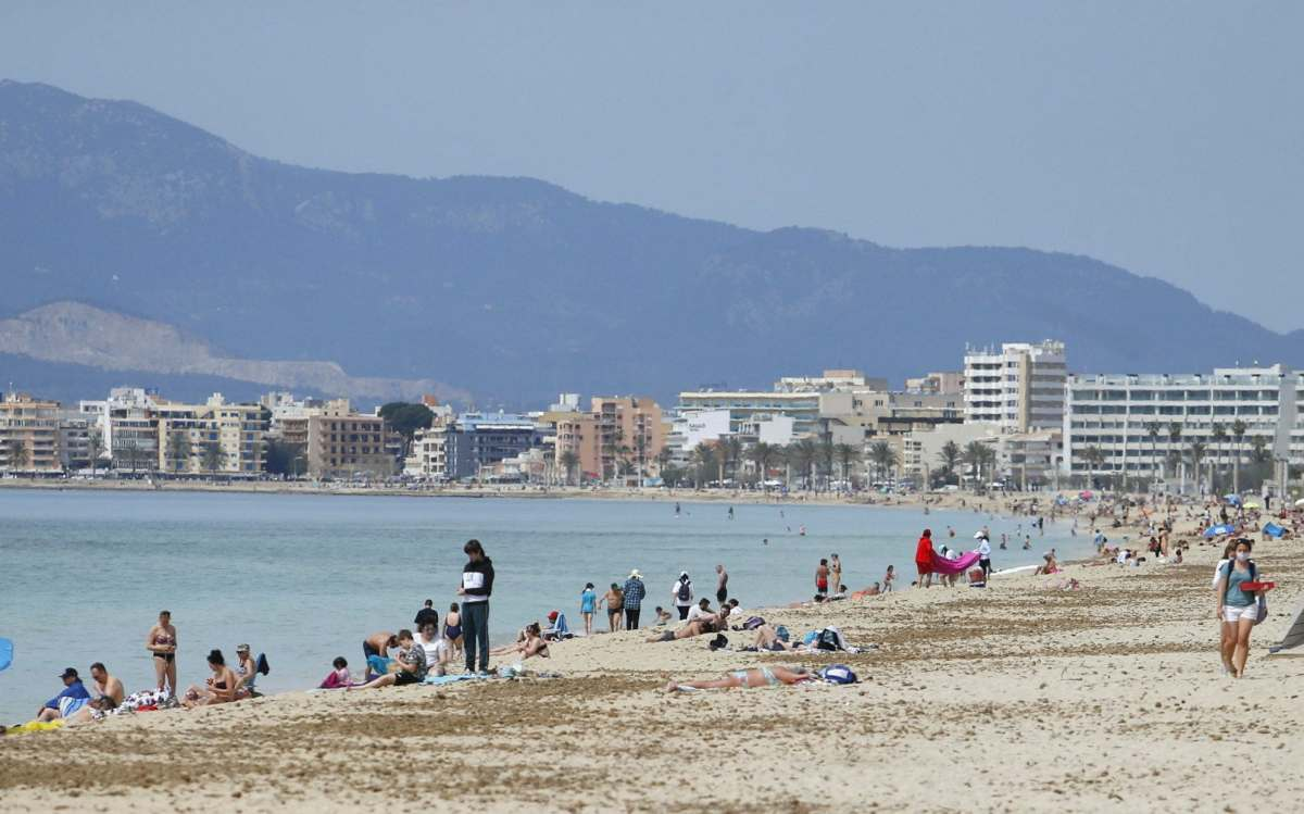 Palma de Mallorca on Thursday. Many Britons will be keen for an update on when they could travel again