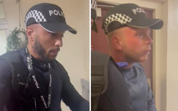 The two men suspected of impersonating police officers