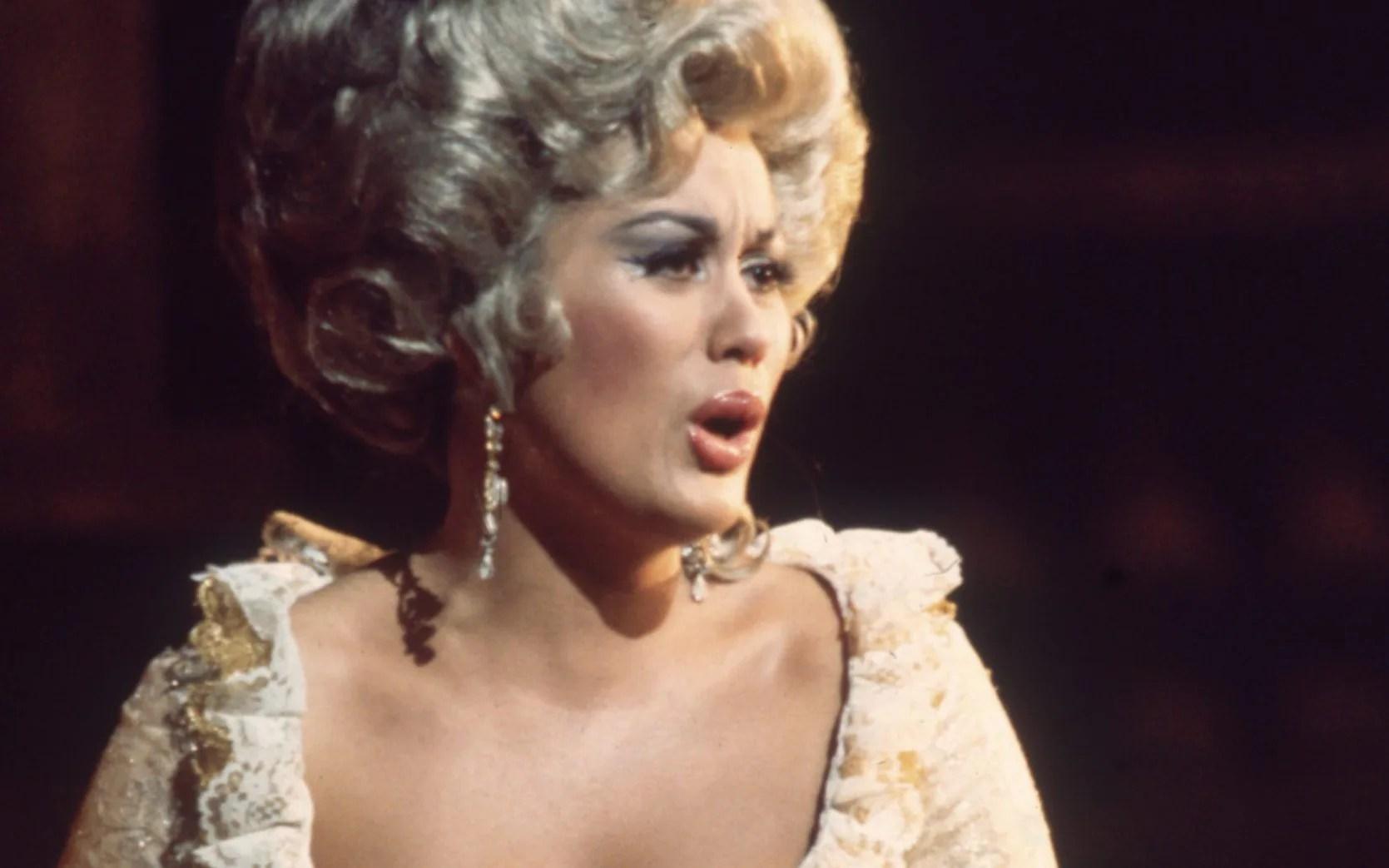 Te Kanawa as the Countess in Mozart's opera Le Nozze di Figaro at the Royal Opera House in 1970