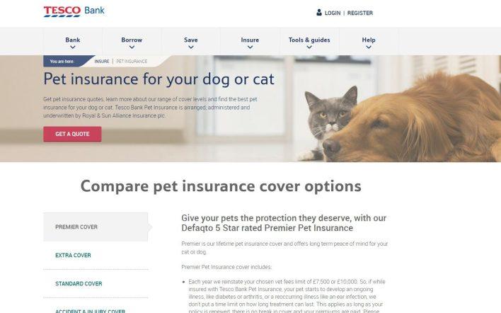 Tesco pet insurance