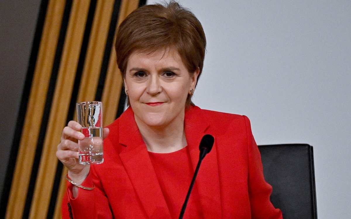First Minister Nicola Sturgeon gives evidence to a Scottish Parliament committee examining the handling of harassment allegations against former first minister Alex Salmond