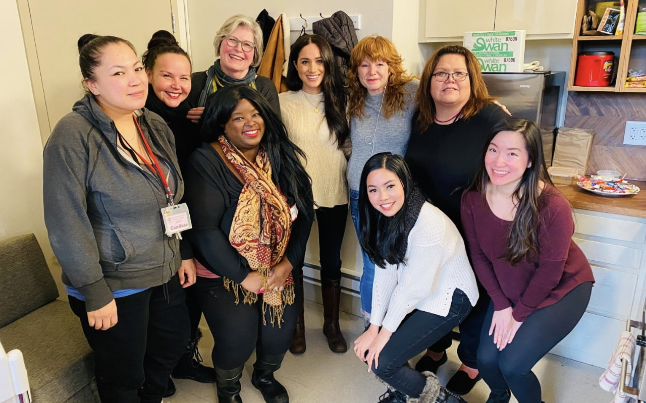 "The Duchess of Sussex visits the Vancouver Women's Center in the first public commitment since the ""split"" of the royal family"