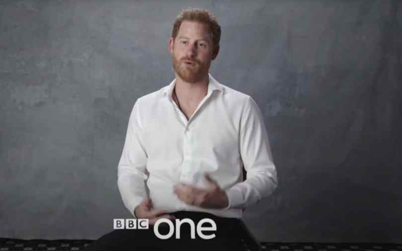 The Duke of Sussex in the trailer for the tribute programme