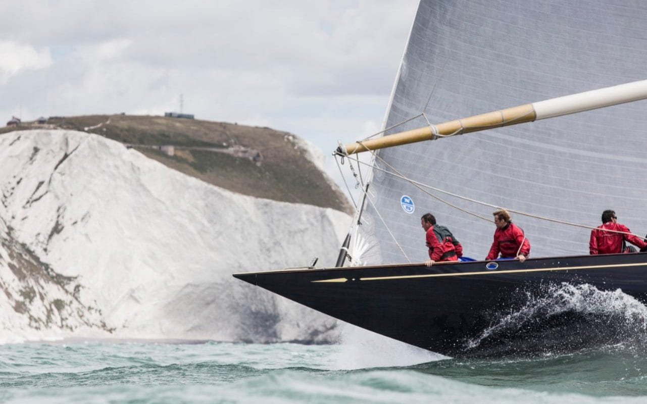 The Americas Cup J Class Racing Yacht In A Class Of Its