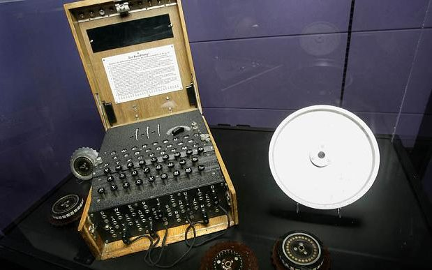 A 1935 Enigma machine, used by Germans to encrypt messages during World War II