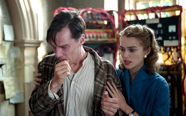 Cumberbatch alongside Keira Knightley in The Imitation Game