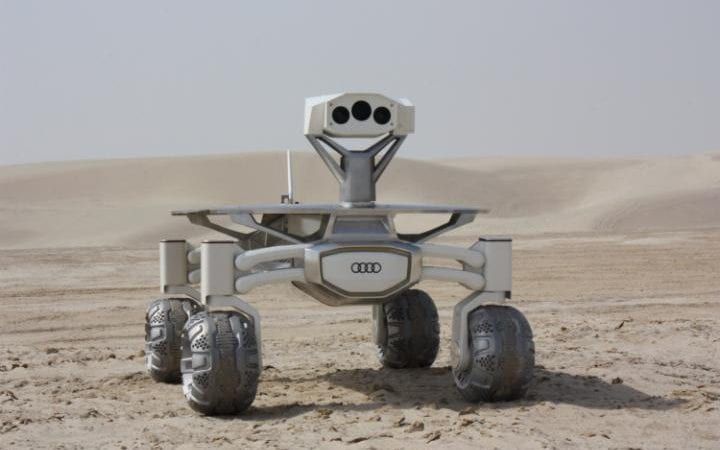 The rovers have been built by Audi and include stereo cameras to capture images in 3D