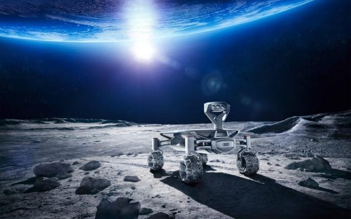 An artist's impression of the rover