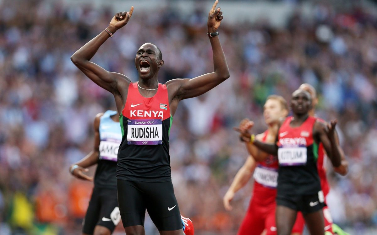David Lekuta Rudisha of Kenya