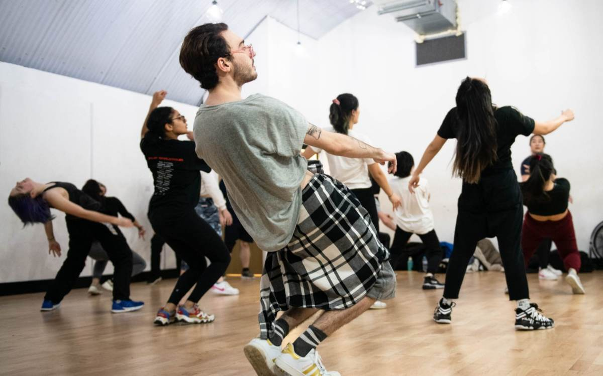 Dance students take an ever more popular high energy K-Pop dance class in London