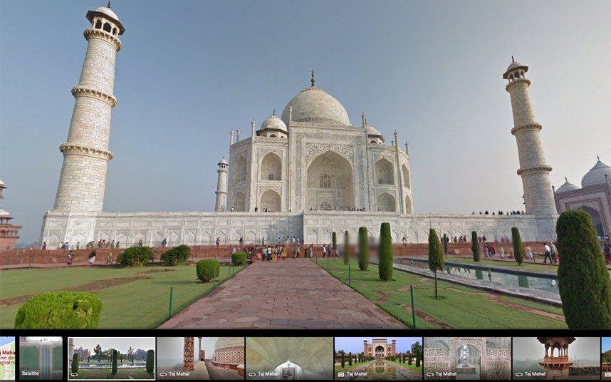 Taj Mahal on Google street view