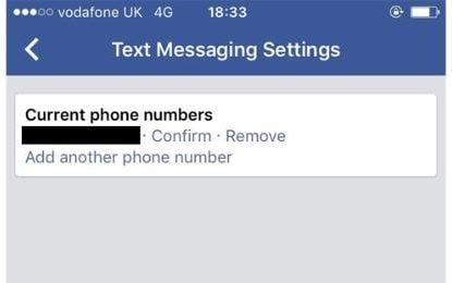 On the mobile app to Settings -> General -> Phone to see if Facebook has a confirmed number for you